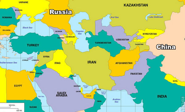 The Geographical situation of Iran