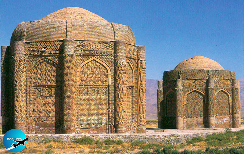 The Kharāghān twin towers, built in Iran in 1053 to house the remains of Seljuq princes
