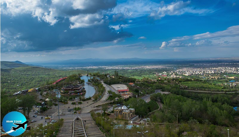 hen you are standing on top of the Abas-Abad hill you can have a panoramic view of the city from Alvan Mountain