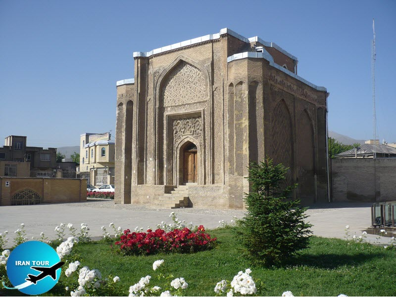 Gonbad-e Alavian is a four-sided mausoleum belonging to the late Seljuk period 12th century